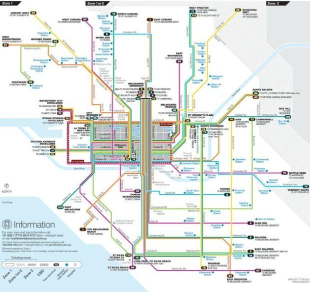mapa do tram bondinho